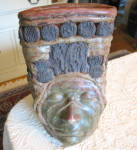 Click to view larger image of Art Pottery Face Vase (Image8)
