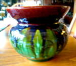 Click here to enlarge image and see more about item artpottery1215: Antique Art Pottery Cuspidor