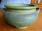 Click here to enlarge image and see more about item artpottery408993: Antique Roseville Matte Green Vase