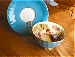 Click here to enlarge image and see more about item aynsley50430a: Aynsley Vintage Fruit Teacup