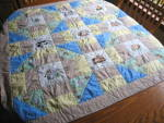 Click here to enlarge image and see more about item babyquilt1115: Hand Stitched Reversible Crib Quilt