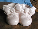 Click here to enlarge image and see more about item babysh10033: McCoy Pottery Twin Shoes