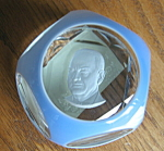 Click here to enlarge image and see more about item baccarat10856: Baccarat Sulfide President Paperweight