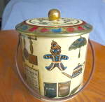 Click here to enlarge image and see more about item barettin070911: Baret Ware Gingerbread Large Tin
