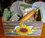 Kitchen Collectibles w/Tin Basket