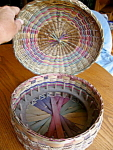 Click here to enlarge image and see more about item basket908: Vintage Native American Basket