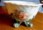 Click here to enlarge image and see more about item bav04041a: Porcelain Footed Signed Vase
