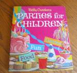 Click here to enlarge image and see more about item bcbook040810: Betty Crocker Parties for Children Book