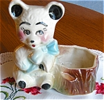 Click here to enlarge image and see more about item bear90403: American Bisque Bear Planter