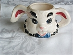 Click here to enlarge image and see more about item bhv01031: Bunny Head Planter Vase Vintage