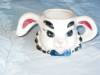 Click to view larger image of Bunny Head Planter Vase Vintage (Image2)