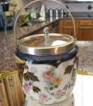 Antique Biscuit Jar Transferware