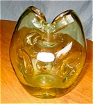 Click here to enlarge image and see more about item bish30417: Bischoff Vintage Art Glass Pinched Vase