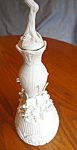 Bisque Porcelain Cologne Bottle Vintage