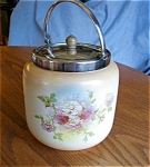 Click here to enlarge image and see more about item bisquit40608: Staffordshire Biscuit Jar