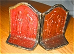 Click here to enlarge image and see more about item bkend40417: Antique Bookends - Call to Prayer