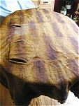 Click here to enlarge image and see more about item blanket110427a: Antique Horsehide Sleigh Blanket