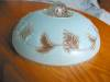 Click to view larger image of Vintage Blue Glass Ceiling Shade (Image2)
