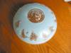 Click to view larger image of Vintage Blue Glass Ceiling Shade (Image3)