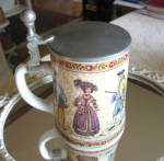 Click here to enlarge image and see more about item bmfstein0615: Vintage Porcelain German Beer Stein