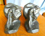 Click here to enlarge image and see more about item bookends030910: Art Deco Bookends - Struggle