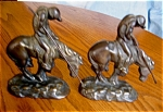 Click here to enlarge image and see more about item bookends120509: Antique End of Trail Iron Bookends