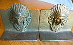 Click here to enlarge image and see more about item bookends82008: Indian Chief Vintage Iron Bookends