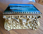 Click here to enlarge image and see more about item box101308: Victorian Niagara Falls Trinket Box