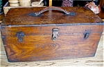 Click here to enlarge image and see more about item box10515: Large Vintage Oak Tool Chest