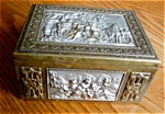 Click here to enlarge image and see more about item box120421: German Repousse Brass Box