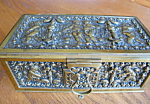 Click here to enlarge image and see more about item box2092: Vintage Metal Box