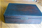 Click here to enlarge image and see more about item box40601: Antique N.Y. Juror Box