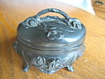 Click here to enlarge image and see more about item box4086: Antique Art Nouveau Trinket Box