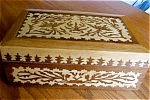 Click here to enlarge image and see more about item box50515: Decorative Wood Box and Hankies