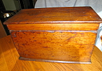 Click here to enlarge image and see more about item box50610: Primitive Antique Wooden Chest