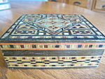 Click here to enlarge image and see more about item box60629: Wood Inlay Box