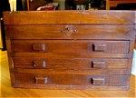 Click here to enlarge image and see more about item box90525z: Vintage Wood Tool Chest