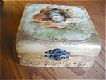 Click here to enlarge image and see more about item box90529: Antique Celluloid Hanky Box and Hanky