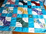Click here to enlarge image and see more about item bquilt110518: Vintage Bowtie Crib Quilt