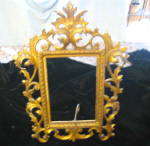 Click here to enlarge image and see more about item brassframe010511: Antique Brass Frame