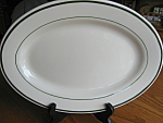 Click here to enlarge image and see more about item buffalo92906: Buffalo China Green Stripe Platter