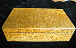 Click here to enlarge image and see more about item burledbox1007: Burled Maple Antique Box