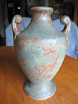 Click here to enlarge image and see more about item burleywinter10852: Vintage Burley Winter Vase Tall