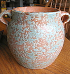 Click here to enlarge image and see more about item burleywinter120622: Vintage Burley Winter Cookie Jar