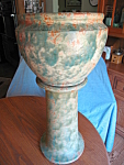 Click here to enlarge image and see more about item burleywinter82008: Burley Winter Jardiniere & Pedestal