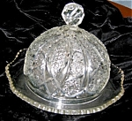 Click here to enlarge image and see more about item butter70406: Antique Pattern Glass Butter Dish