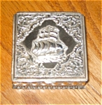 Click here to enlarge image and see more about item bx03034: Metal Sailboat Trinket Box