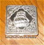 Click to view larger image of Metal Sailboat Trinket Box (Image1)