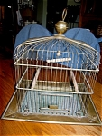 Click here to enlarge image and see more about item cage40608: Antique Osborn New York Brass Birdcage