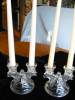 Click to view larger image of Vintage Glass Candleholder Pair (Image4)